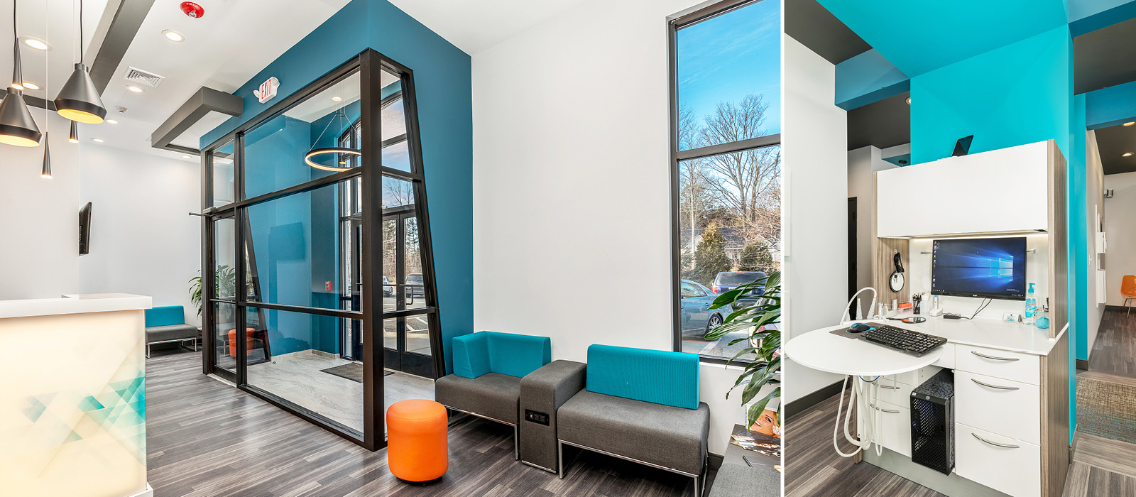 Byte Dentistry entryway and clinical workspace