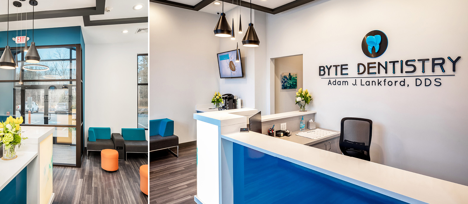 Byte Dentistry reception area and waiting room