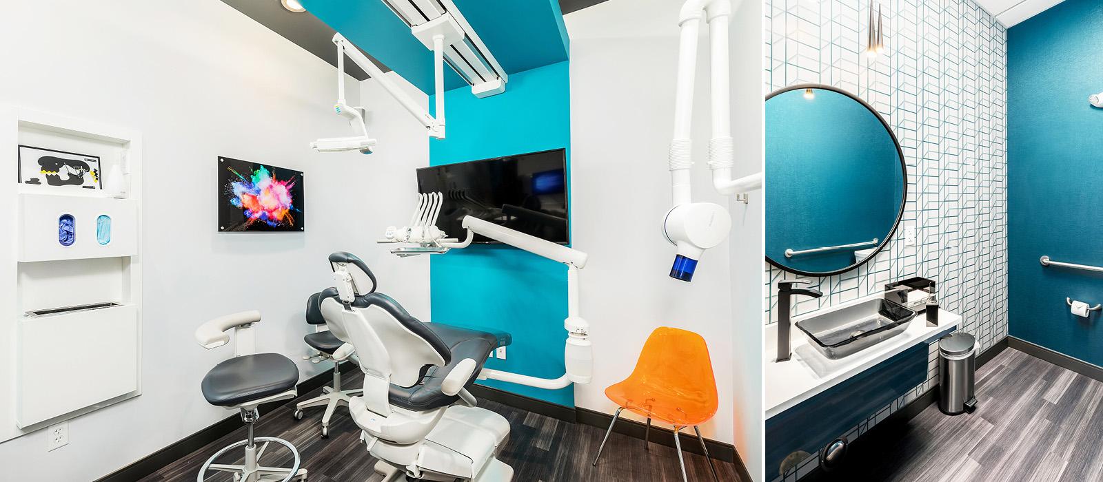 Byte Dentistry treatment area and bathroom facilities