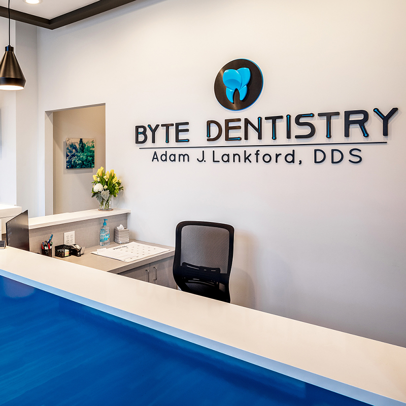 Byte Dentistry reception desk