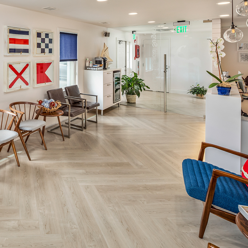 Capeside Oral & Facial Surgery waiting area with nautical theme