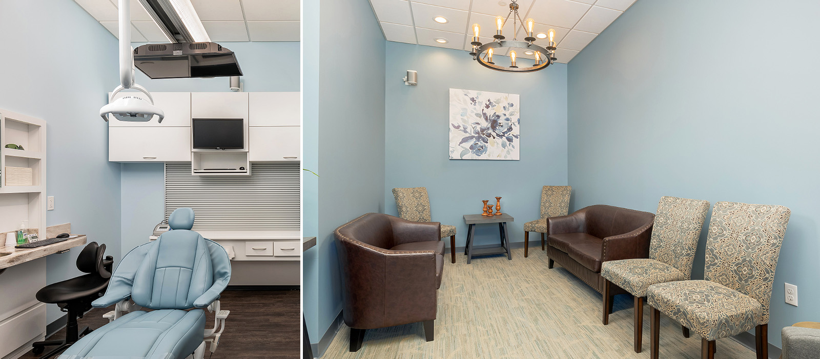 Dental Design of New England treatment area and waiting room