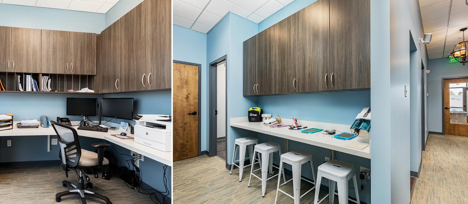 Dental Design of New England administrative workspaces