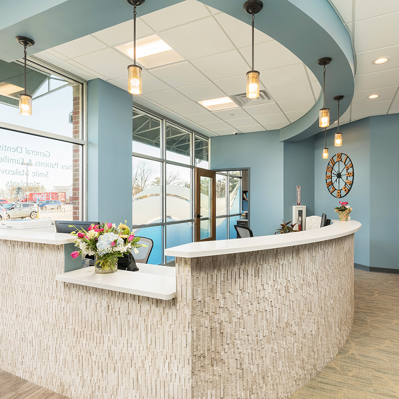 Dental Design of New England reception area