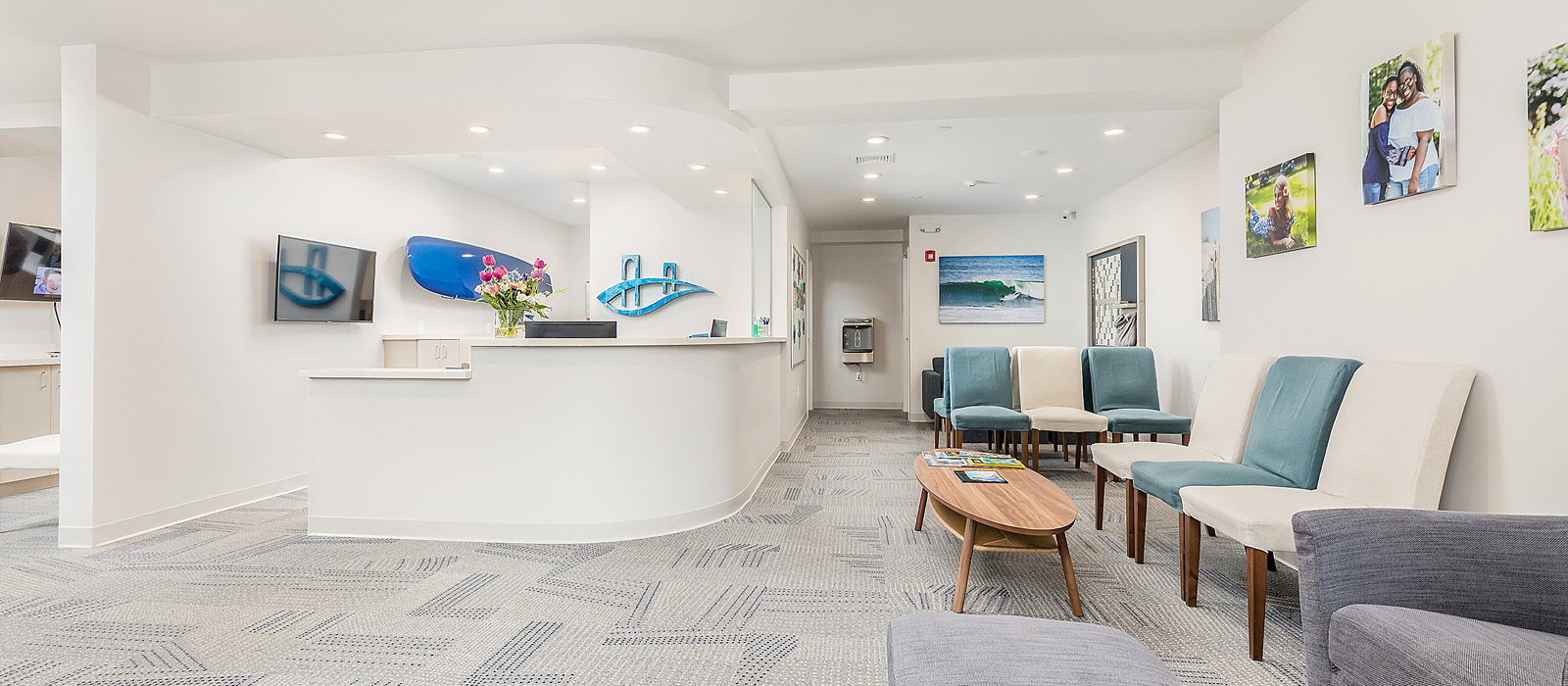 Forster Orthodontics patient waiting area and front desk
