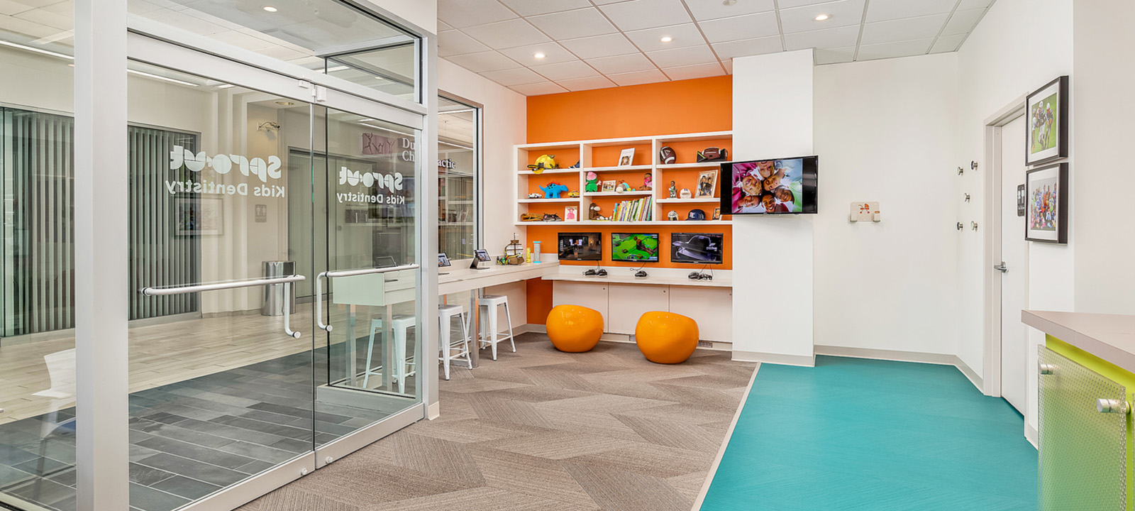 Sprout Dental waiting room and play area