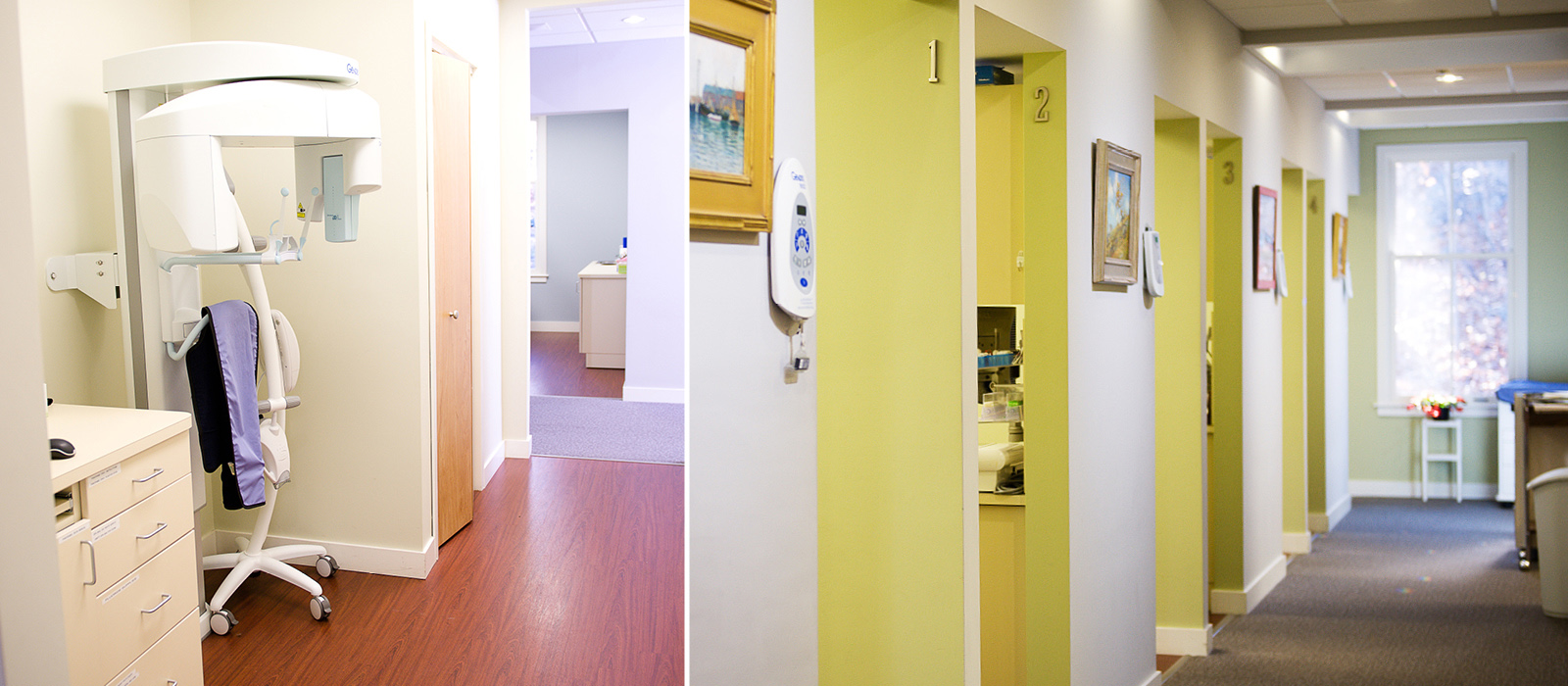 Paquette Family Dental x-ray and treatment rooms