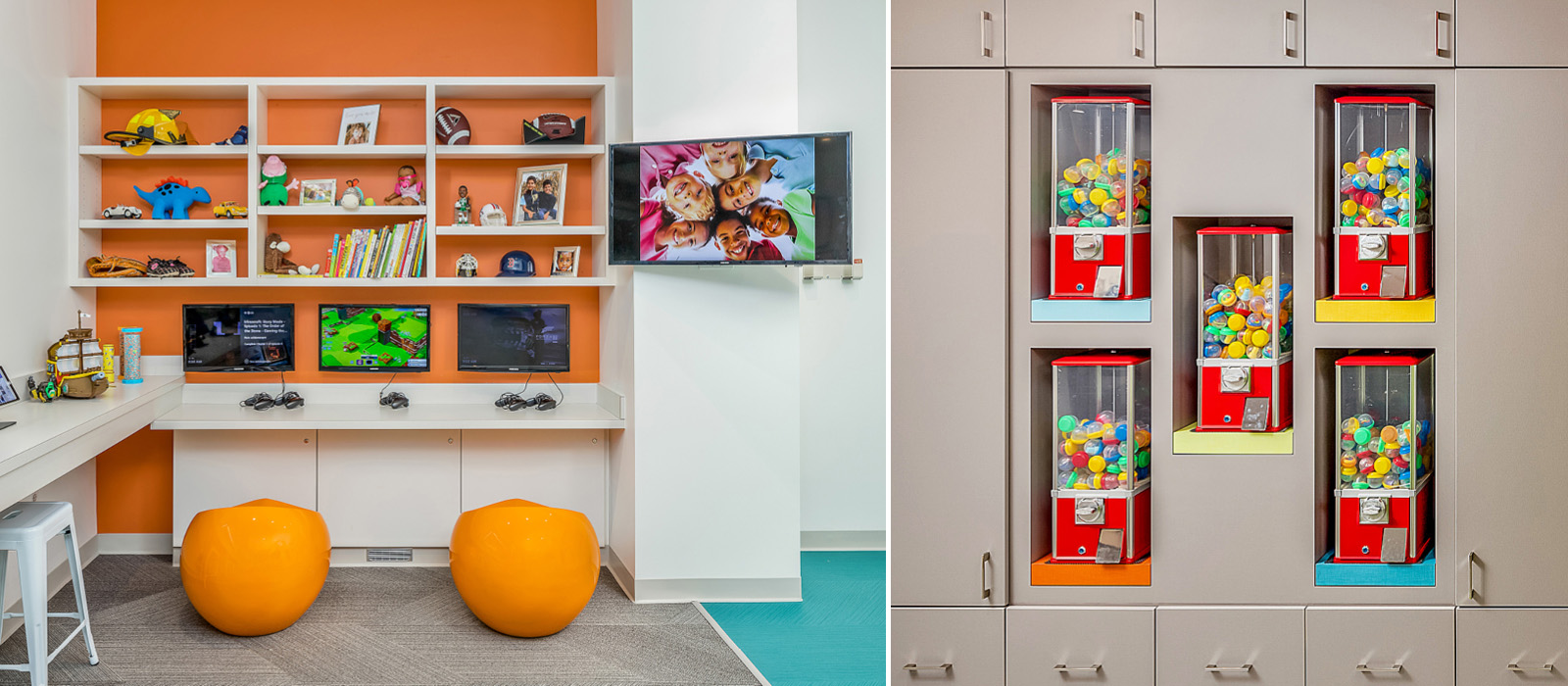 Sprout Dental video game stations and prize center