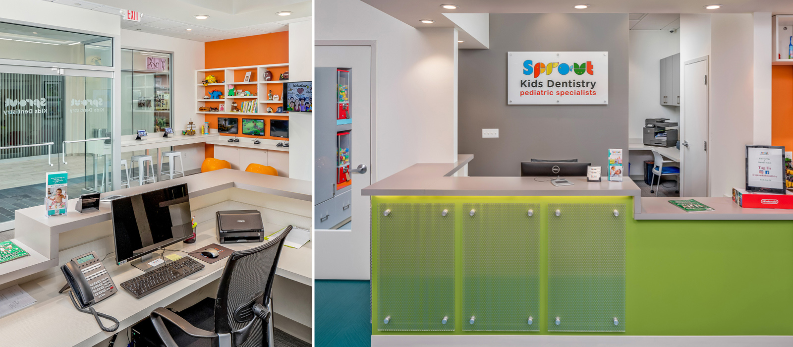Sprout Dental reception area