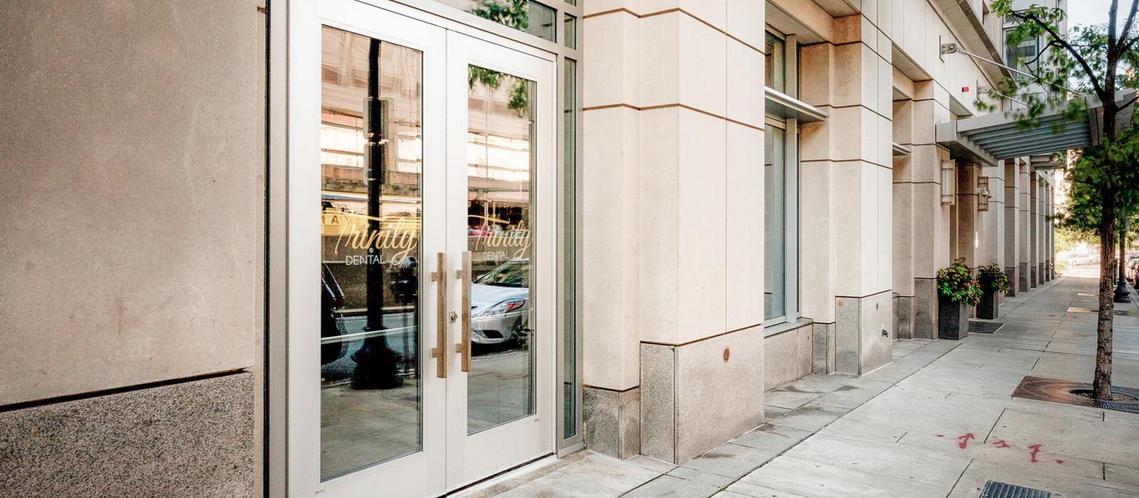 Trinity Dental front doors