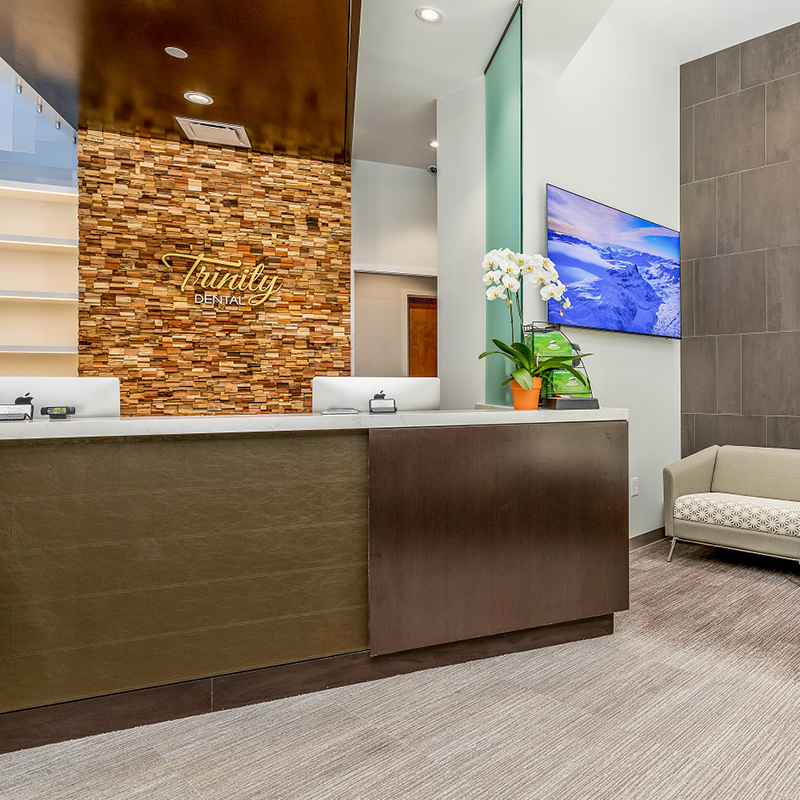Trinity Dental reception area