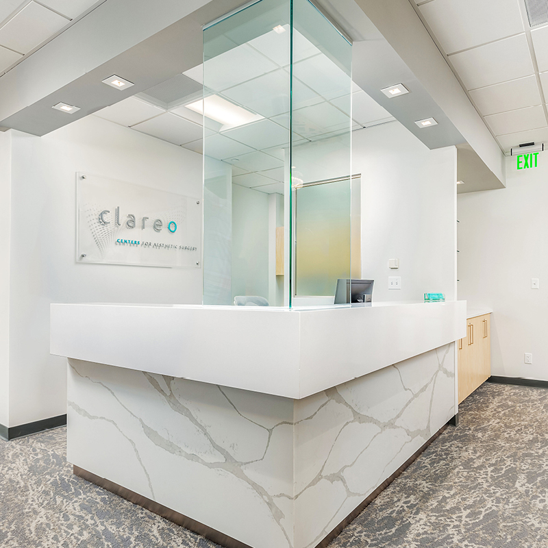 Clareo Centers For Aesthetic Surgery front desk